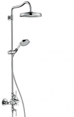 Hansgrohe Axor Montreux - Showerpipe chrom mit Thermostat und Hebelgriff