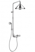 Hansgrohe Axor Front - Showerpipe mit Thermostat und 2jet Kopfbrause chrom