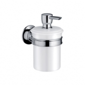 AXOR Montreux - Lotion dispenser polished nickel / white