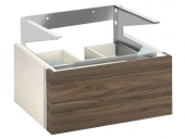 Keuco Edition 300 - Vanity unit 30364, 2 front drawers, white / olive veneer