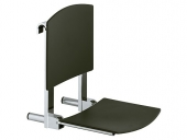 Keuco Plan care - Foldable seat black gray / chrome-plated