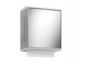 Keuco Collection Moll - Paper towel dispenser 12785, mirror door / hinge left, white