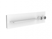 Keuco meTime_spa - Concealed thermostatic bathtub / shower mixer for 1 outlet clear petrol / chrome