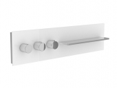 Keuco meTime_spa - Concealed thermostatic bathtub / shower mixer for 3 outlets clear truffle / chrome