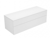 Keuco Edition 400 - Sideboard 31763 2 Auszüge weiß / Glas cashmere satiniert