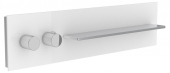 Keuco meTime_spa - Thermostatbatterie 1 Verbraucher Griffe links Glas weiß satiniert