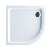 Villeroy & Boch O.novo - Shower tray quarter-circle shaped 900x900 star white without VilboGrip