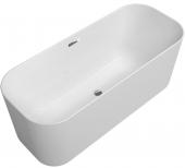 Villeroy & Boch Finion - Badewanne Ventil Überlauf Design-Ring verchromt white alpin