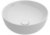 Villeroy & Boch Artis - Aufsatzwaschtisch 430 mm rund mit CeramicPlus weiß