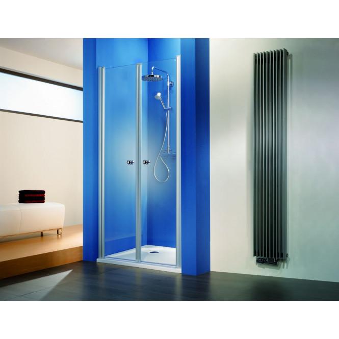 HSK - Porte battante niche, 01 Alu argent mat 1000 x 1850 mm, 50 ESG lumineuse et claire