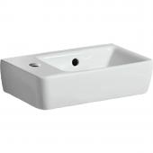 Geberit Renova Nr. 1 Comprimo - Handwaschbecken 400 x 250 mm Hahnloch links weiß mit KeraTect