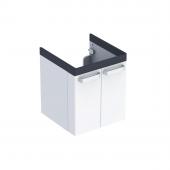 Geberit Renova Nr. 1 - Comfort Waschtischunterschrank 530 x 620 x 525 mm weiß matt / grafit matt