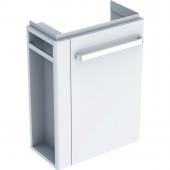 Geberit Renova Nr. 1 Comprimo - Waschtischunterschrank Handtuchhalter links hellgrau