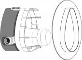 Ideal Standard Unterputz-Bausätze 1 - Kit décoration Corps de robinet d'arrêt à encastrer