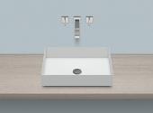 Alape AB.ME500 - Aufsatzbecken rechteckig 500 x 375 mm weiß mit pflegeleichter Beschichtung
