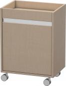 Duravit Ketho - Rollcontainer 360x500x670mm 1 Tür Türanschlag rechts leinen
