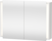 Duravit Ketho - Spiegelschrank 180x1000x750mm 2 Spiegeltüren nussbaum dunkel
