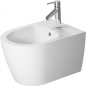 Duravit ME by Starck - Wand-Bidet 480 mm Compact mit Hahnloch weiß seidenmatt