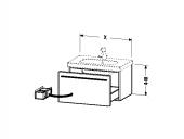 DURAVIT X-Large - Meuble sous vasque avec 1 tiroir 800x448x458mm blanc brillant/blanc brillant