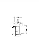 DURAVIT X-Large - Meuble sous vasque avec 1 porte & charnières à gauche 400x448x328mm blanc brillant/blanc brillant