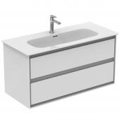 Ideal Standard Connect Air - Waschtisch-Unterschrank 1000 x 440 x 517 weiß glänzend / hellgrau matt