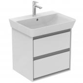 Ideal Standard Connect Air - Waschtisch-Unterschrank 530x409x517 mm weiß glänzend / hellgrau matt