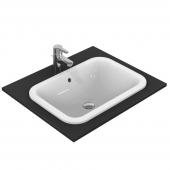 Ideal Standard Connect - Vasque à encastrer par le dessus pour meuble 580x410mm sans trous de robinetterie avec trop-plein blanc sans IdealPlus