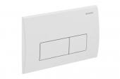 Geberit Kappa50 - Plaque de commande pour WC avec pour chasses d'eau à 2 volumes finition satin chromé / chrome silk gloss