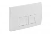 Geberit Delta50 - Plaque de commande pour WC avec pour chasses d'eau à 2 volumes blanc / white