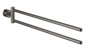 Grohe Atrio - Handtuchhalter 2-armig hard graphite gebürstet