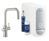 Grohe Blue Home - Starter Kit Mousseur Bluetooth/WIFI U-Auslauf supersteel 1