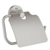 Grohe Essentials - WC-Papierhalter mit Deckel supersteel