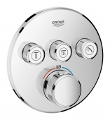 Grohe Grohtherm SmartControl - Thermostat rund 3 Absperrventile chrom