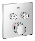 Grohe Grohtherm SmartControl - Thermostat mit 2 Absperrventilen chrom