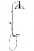 Hansgrohe Axor Front - Showerpipe mit Thermostat und 2jet Kopfbrause chrom
