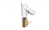 Hansgrohe Axor Starck V - Waschtischmischer 140 mit Glasauslauf-Facettenschliff polished bronze