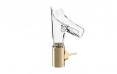 Hansgrohe Axor Starck V - Waschtischmischer 140 mit Glasauslauf-Facettenschliff brushed bronze