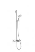 Hansgrohe Croma Select E - Showerpipe Multi SemiPipe weiß / chrom