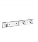 Hansgrohe RainSelect - Thermostat Unterputz Fertigset 4 Verbraucher weiß / chrom