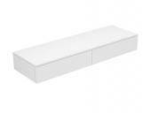Keuco Edition 400 - Sideboard 2 Auszüge cashmere / Glas cashmere klar