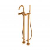 Steinberg Series 250 - Freistehende Wanne-/Brausearmatur mit 90° Keramikventilen rose gold