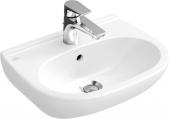 Villeroy & Boch O.novo - Lavabo compact 550x370mm avec 1 trou de robinetterie avec trop-plein blanc avec CeramicPlus