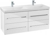 Villeroy & Boch Avento - Waschtischunterschrank 1180 x 514 x 452 mm crystal white