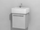 DURAVIT X-Large - Meuble sous vasque avec 1 porte & charnières à droite 400x448x328mm blanc brillant/blanc brillant