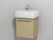 DURAVIT X-Large - Meuble sous vasque avec 1 porte & charnières à droite 400x448x328mm cappuccino brillant/cappuccino brillant