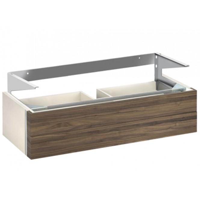 Keuco Edition 300 - Waschtischunterbau 2 Frontauszüge weiß hochglanz / weiß hochglanz