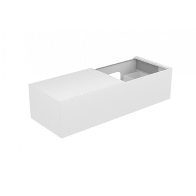 Keuco Edition 11 - Waschtischunterschrank 1 Frontauszug weiß hochglanz / weiß hochglanz