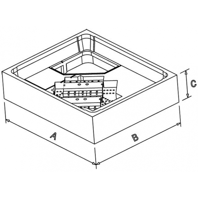 Poresta Systems - Expert Duschwannenträger für Bette 1100 x 750 x 35