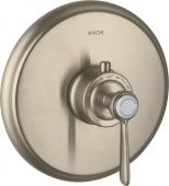 Axor Montreux - Thermostat Unterputz High Flow Fertigset Hebelgriff brushed nickel