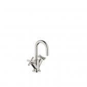 Dornbracht Tara - 2-Griff-Waschtischarmatur M-Size mit Zugstangen-Ablaufgarnitur platin matt